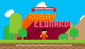 animated resume the awesomely animated cv of robby leonardi totally puts our own