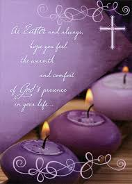 easter greeting cards religious 3 purple candles religious easter card by designer greetings