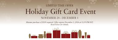 gift card offers gift card event special offers