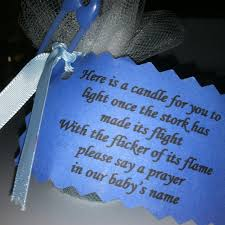 Baby Verses For Baby Shower - i found this made for my nieces baby shower a tea light candle