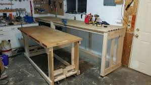 Rolling Work Benches 2x4 Work Bench With Nested Rolling Assembly Table 10 Steps With