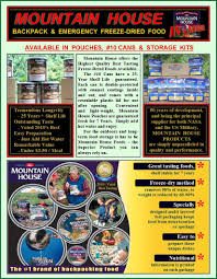 mountain house freeze dried food disaster readiness and outdoors
