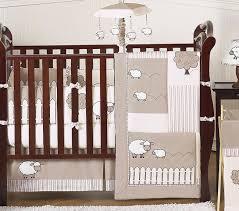 Crib Bedding Sets Unisex Gender Neutral Ivory Sheep Farm Baby Boy Crib Bedding