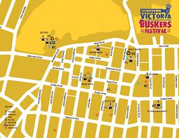 Victoria Bc Map Downtown Victoria Buskers Festival U2013 Dvba