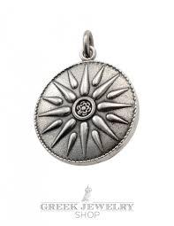 jewelry shop symbols sun of vergina pendant silver size large