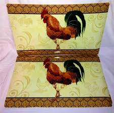accessories attractive hen and rooster decor the better statue