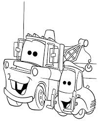 lightning mcqueen and mater coloring pages mater coloring page tow mater coloring pages mater coloring pages