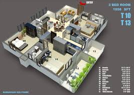 Duplex Home Design Plans 3d 3bhk House Plan 3d Home Design And Style