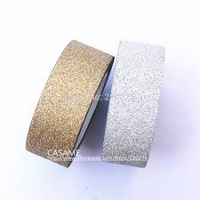 self stick paper 5m korean style totaly gold glitter tape paper scrapbooking book