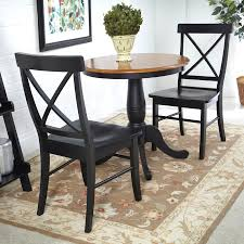 Black And Cherry Wood Dining Chairs Shop International Concepts Black Cherry 3 Piece Dining Set With