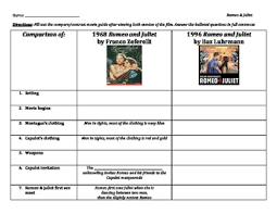 romeo and juliet crossword answers u0026 teaching romeo and juliet by