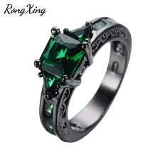 black gold mothers ring rongxing vintage square may birthstone rings for women birthday