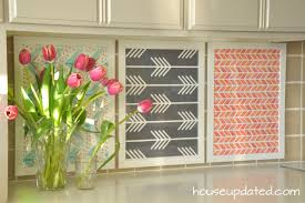 kitchen backsplash wallpaper ideas diy temporary backsplash using ikea frames and spoonflower