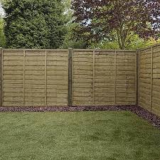 5ft x 6ft waltons pressure treated lap garden fence panel