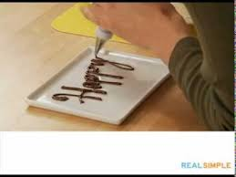 real simple how to write on a cake video youtube