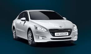 peugeot sedan peugeot 508 hybrid4 diesel electric large sedan launched photos