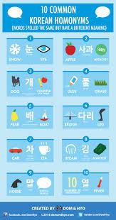 same words different meanings 10 common korean homonyms 동음 이의어