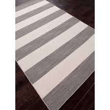 Grey Striped Rug Flat Weave Rugs For Beach And Lake Homes