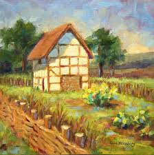 English Country Cottages English Country Garden Paintings