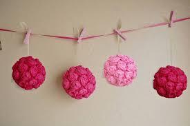 wedding diy crepe paper flower balls wedding fanatic