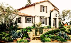 spanish house designs lawn garden spanish house with typical garden design also stone
