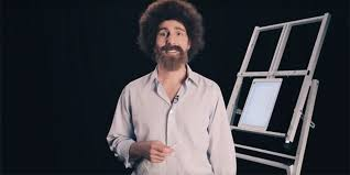 four part video tutorial taps bob ross lookalike to promote