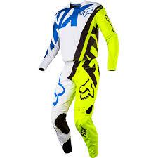 fox motocross gear for kids fox racing 2017 kids mx new 360 creo white flo yellow youth