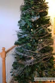 the easiest tree garland tree garland rustic