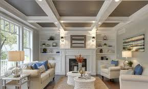 coffered ceiling paint ideas should i paint or stain a color on the ceiling pros and cons of