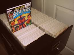 an example using a filing cabinet store comics books comic