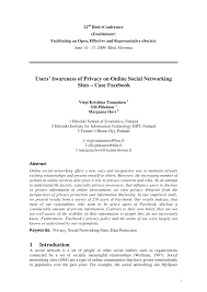 users u0027 awareness of privacy on online social networking sites