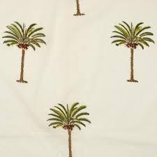 cotton fabric 13 block printed with small single palm tree motif