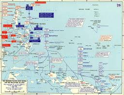 Ww2 Europe Map by Map Of Wwii Battle Of Leyte Gulf 1944