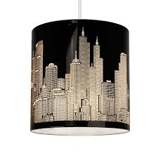 excellent contemporary lamp shades tall buildings motif in shades