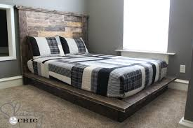 Plans For Platform Bed With Headboard easy diy platform bed shanty 2 chic
