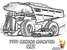 printable coloring pages cars and trucks construction trucks