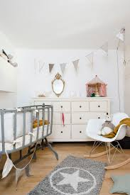 25 cute and comfy scandinavian nursery ideas view in gallery beautiful bassinet and eames rocker add to scandinavian style of the room design au50bis