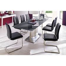 Memory  Seater Grey Dining Table Set With Ronja Dining - Black dining table for 8