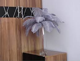 Ostrich Feathers For Centerpieces by Amazon Com 100pcs Silver Ostrich Feather For Wedding Table