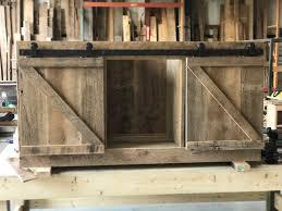 Reclaimed Wood Barn Doors michelle u0027s rustic reclaimed wood media center fama creations