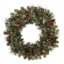 Outdoor Garland With Lights by Pre Lit Garland Holiday U0026 Christmas Wreaths At Ace Hardware