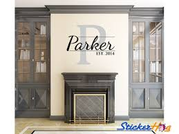 Monogrammed Home Decor Personalized Family Name Wall Decal Monogram 23 Wall Decals