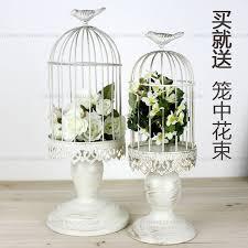 Bird Cage Decoration Aliexpress Com Buy French Finishing Iron White Decorative Bird