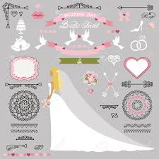 Bridal Invitation Cards Wedding Bridal Shower Invitation Card Decor Set Cartoon Bride