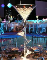 martini glass centerpieces centerpiece to make festive ad a or green led light at the