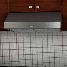 ancona an 1280 under cabinet range hood with led lights in