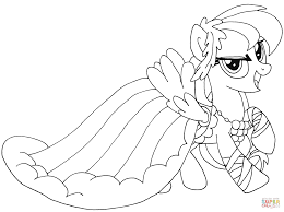 my little pony rainbow dash coloring page free printable
