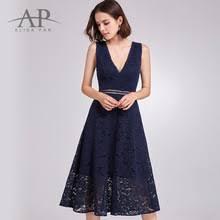 online get cheap navy blue lace backless dress aliexpress com