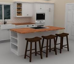 Cozy Kitchen Designs This White Ikea Kitchen Island Includes A Cooktop To Provide With