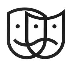 drama faces black and white clipart clip art library